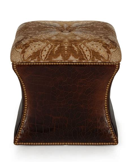 Massoud Ottoman Massoud Rhona Leather Ottoman