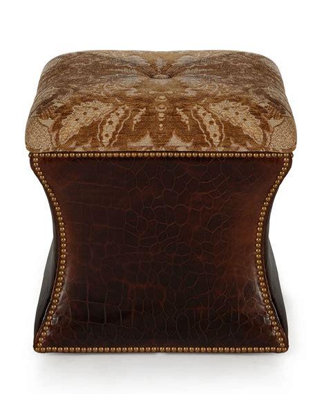 massoud ottoman massoud rhona leather ottoman