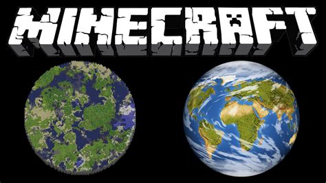 Mongas Earth 1 3 is minecraft bigger than earth