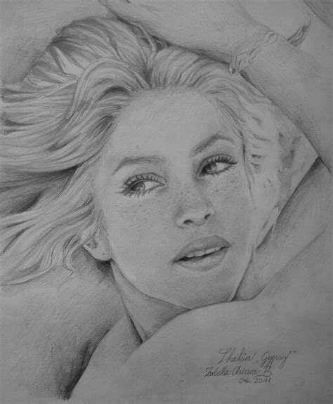 shakira drawing shakira by filouino on deviantart