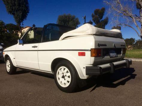 white convertible volkswagen cabriolet volkswagen cabriolet mk1 special edition white on white on