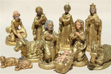 italian nativity creches vintage italian nativity set creche figures 60s mod gold decorations made in italy
