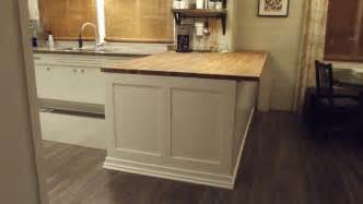 elephant buffet diy butcher block kitchen island before