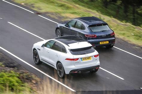 luxury car price comparison jaguar f pace vs porsche macan luxury suvs compared