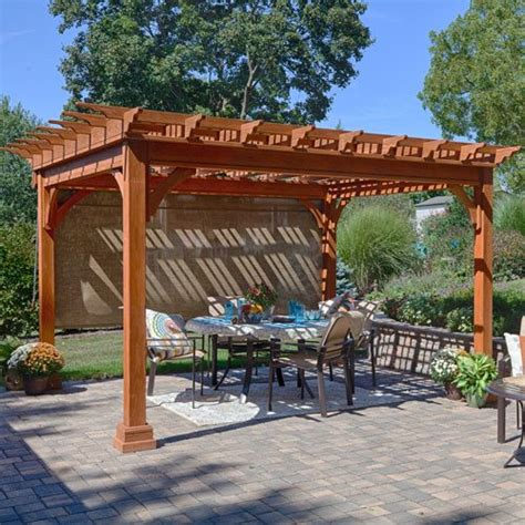 gazebo with privacy curtains shade curtain for pavilions and pergolas country