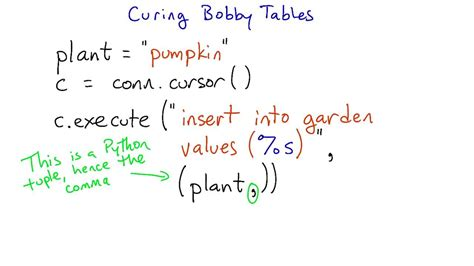 Bobby Tables by Curing Bobby Tables Intro To Relational Databases