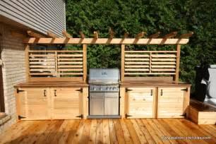 cuisine ext 233 rieure avec comptoir en ip 233 patios en bois