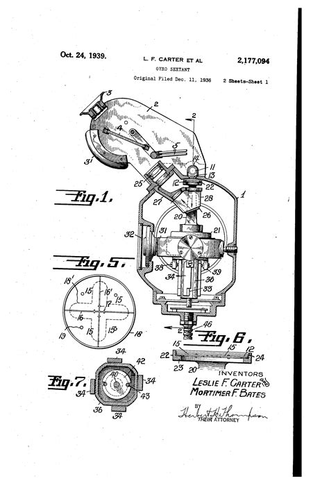 sextant inventor patent us2177094 gyro sextant google patents