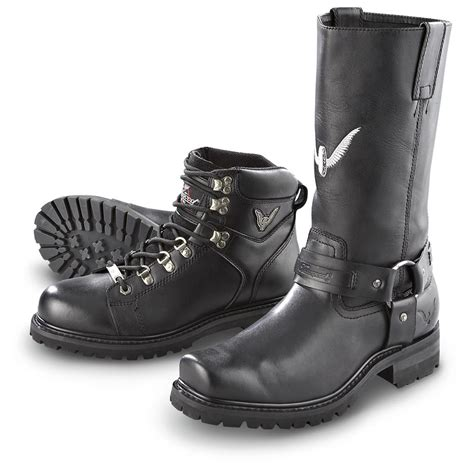 mens lace up biker boots s thorogood 174 lace up biker boots black 155948