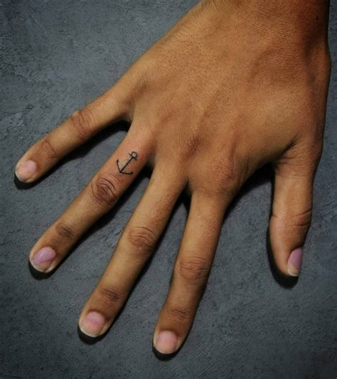 anchor finger tattoo 23 finger designs ideas design trends premium