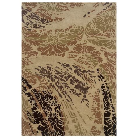 linon home decor florence collection beige and brown 5 ft