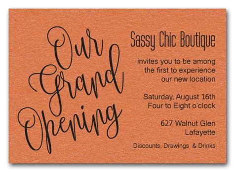 Boutique Opening Invitation Card