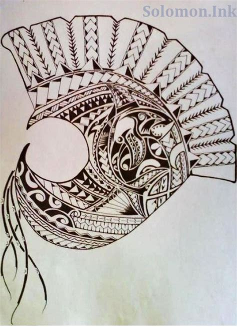 samoan warrior tattoo designs tribal hawaiian warrior helmet tattoos