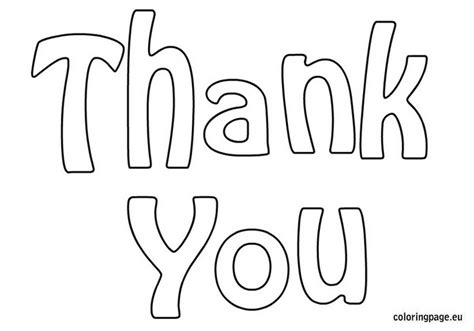 free coloring pages thank you thank you coloring page teaching appreciation 594821