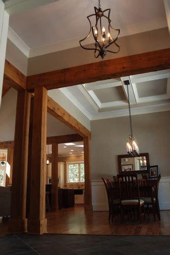 Entryway with Cedar Beams   Olde South Homes   Pinterest