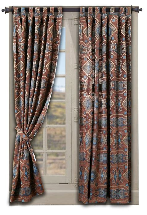Southwestern Style Curtains Southwestern Curtains In American Patterns Cool Home Accents Southwestern
