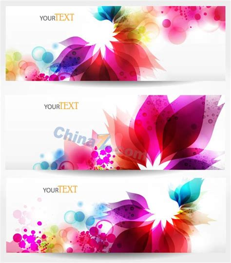 Colorful Flower Banner Template Design Vector Over Millions Vectors Stock Photos Hd Pictures Flower Banner Template