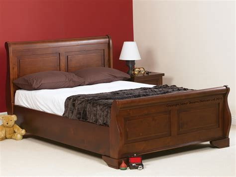 Bed Frame For King Size Bed Sweet Dreams Jackdaw King Size Mahogany Sleigh Bed Frame