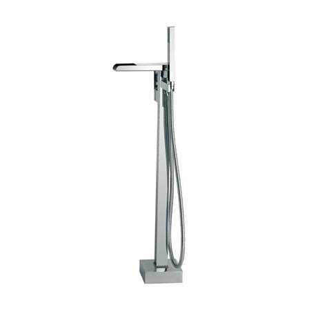 floor mount bathtub faucet ove decors sutherland 1 handle floor mount roman tub faucet with hand shower in chrome