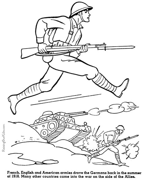 coloring pages for us history army printable coloring sheet american military history