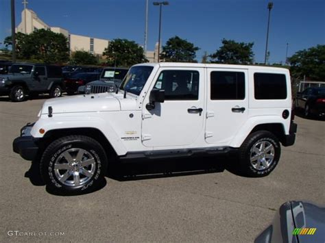 2014 Jeep Wrangler Unlimited Colors 2014 Bright White Jeep Wrangler Unlimited 4x4