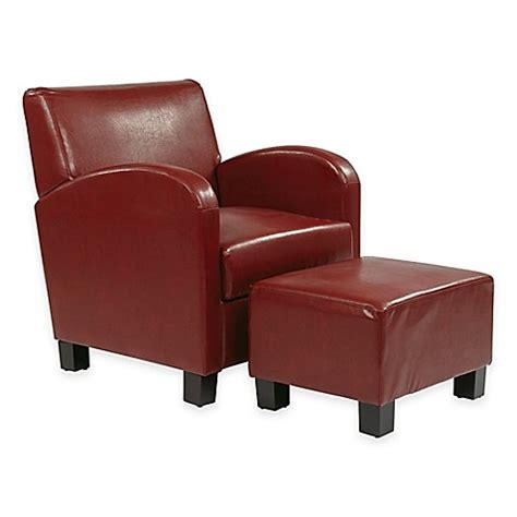 club chair and ottoman set metro collection faux leather club chair and ottoman set