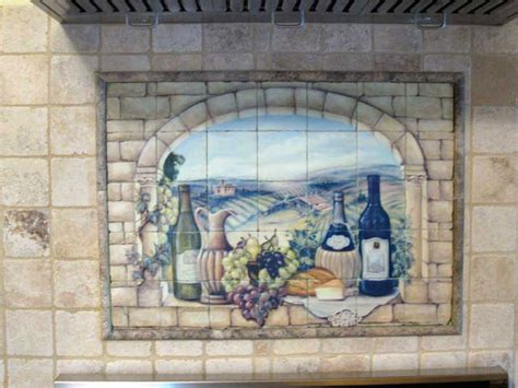the vineyard tile murals tuscan wine tiles kitchen kitchen accent tile the vineyard tile murals tuscan wine