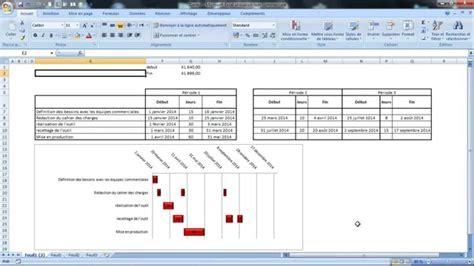 comment creer un diagramme de gantt avec excel faire un graphique de gantt avec plusieurs p 233 riodes pour