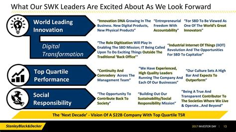powerful building a culture of freedom and responsibility books stanley black decker swk investor presentation
