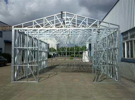 Steel Framed Shed by Installation Fireproof Metal Car Sheds Light Steel