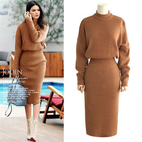44155 Brown Autumn Length S M L Dress casual dress 2017 brand designers design