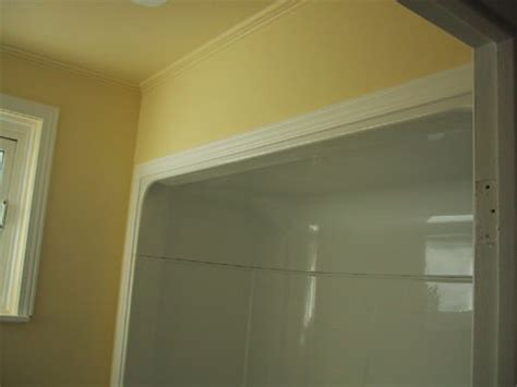 bathtub molding trim aggroup inc henderson tub surround finished off