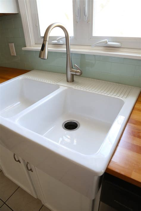 How To Do A Kitchen Backsplash Installing An Ikea Farmhouse Sink Weekend Craft