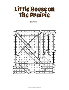 printable little house on the prairie little house on the prairie word search by puzzles to