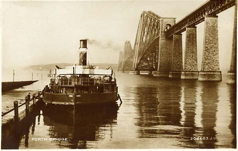 queensferry ferry boat the forth rail bridge and the ferry boat dundee on the
