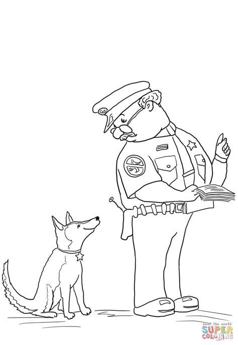 Officer Buckle And Gloria Coloring Page Free Printable Officer Coloring Pages