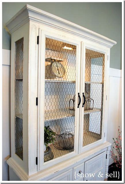 how to put chicken wire on cabinet doors picking up black chicken wire today but just finished