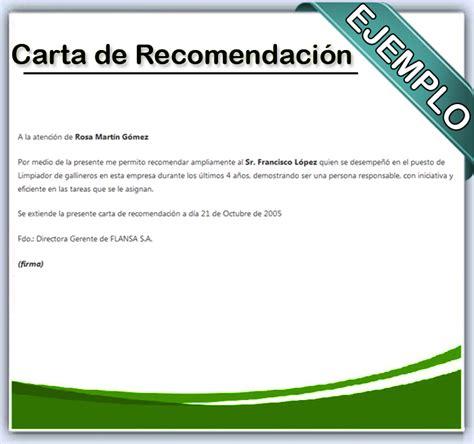 como se redacta una carta de referencia comercial como hacer una carta de recomendacion