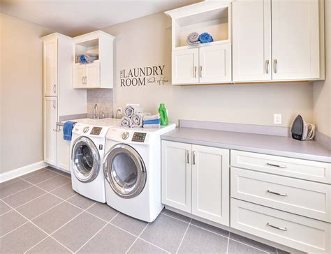 custom shaker linen kitchen cabinet design in the ta spacious and bright laundry room custom built with