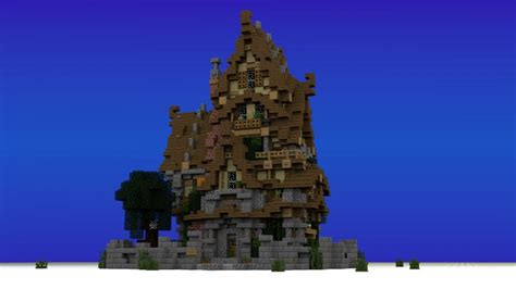 Simple Two Story House Design two story medieval house minecraft house design