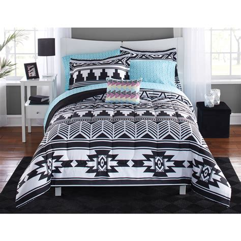 black and white xl bedding tribal black and white bed in a bag bedding set