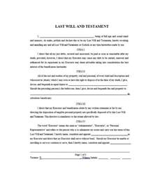 free will template 39 last will and testament forms templates template lab