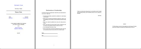 latex templates for brochures modifying a thesis template abstract environment tex