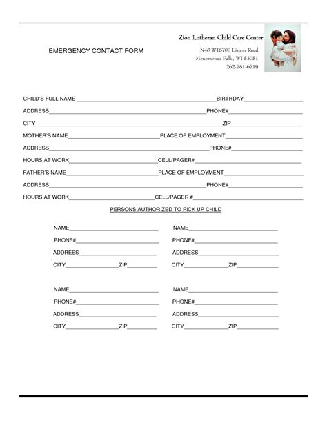 best photos of sle emergency contact form emergency