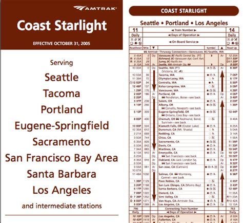 light ticket california cost amtrak coast starlight schedule quotes
