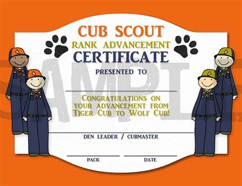 Cub Scout Advancement Card Templates by 24 Images Of Cub Scout Rank Certificate Template Microsoft