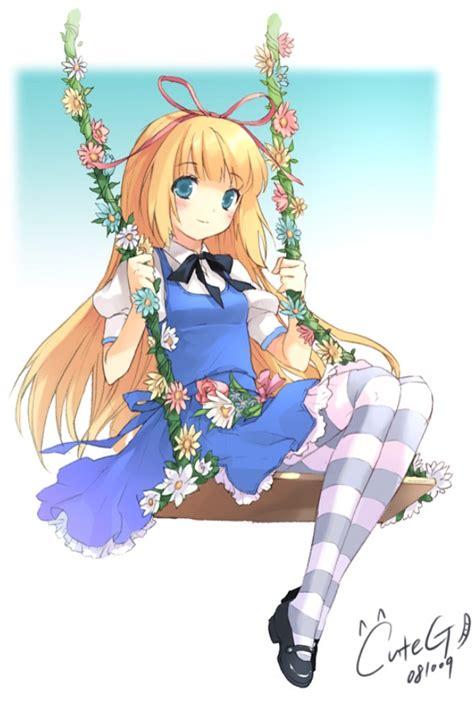 anime swing alice in wonderland on swing anime pinterest