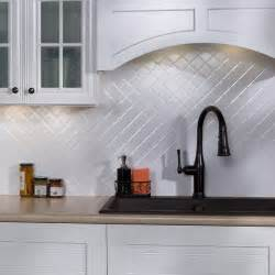 Kitchen Backsplash Panels by White Kitchen Backsplash Glossy Quilted Tile Ceramic Panel