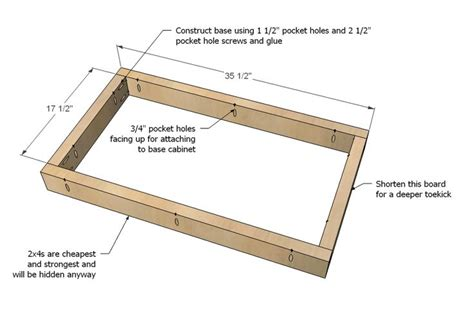 Kitchen Cabinet Construction Plans White Build A Kitchen Cabinet Sink Base 36 Overlay Frame Free And Easy Diy