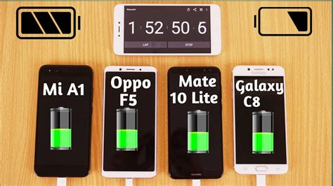 samsung galaxy c8 vs oppo f5 vs huawei mate 10 lite vs xiaomi mi a1 battery charging test urdu